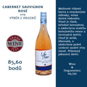 Oceněný Cabernet Sauvignon rosé 2019, výběr z hroznů