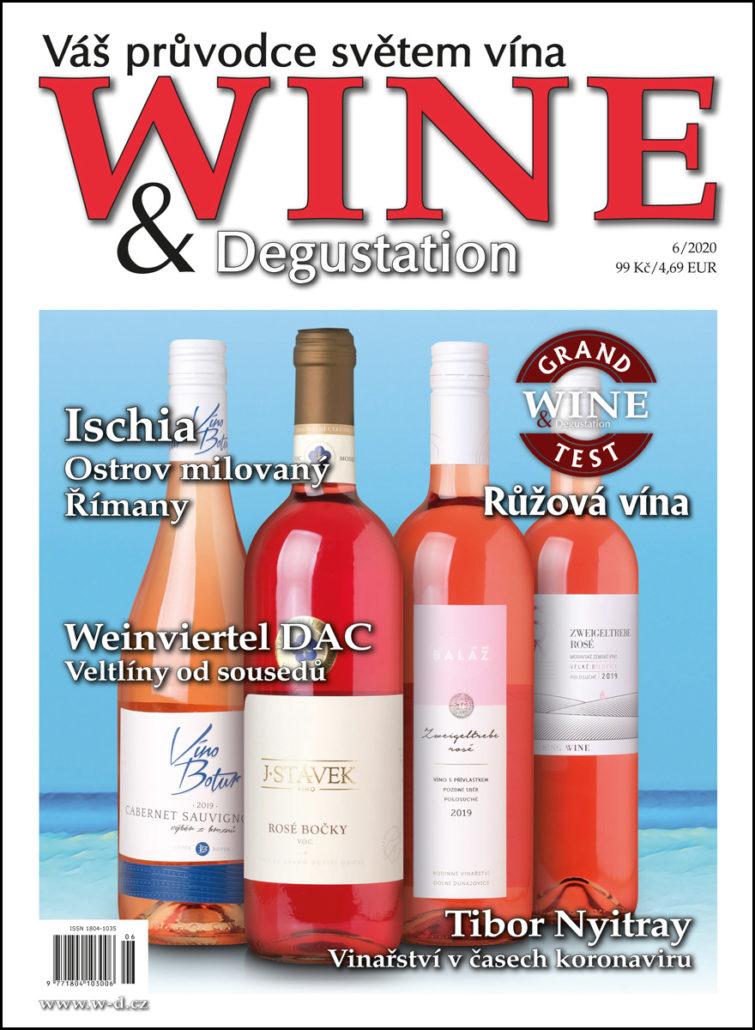 Titulní strana časopisu Wine & Degustation červnové vydání